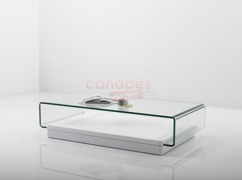 Table basse plexiglas pas cher