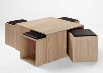 Maison Basse Pouf Déco Intégré Ronde Idée De Et Table DIYW29HE