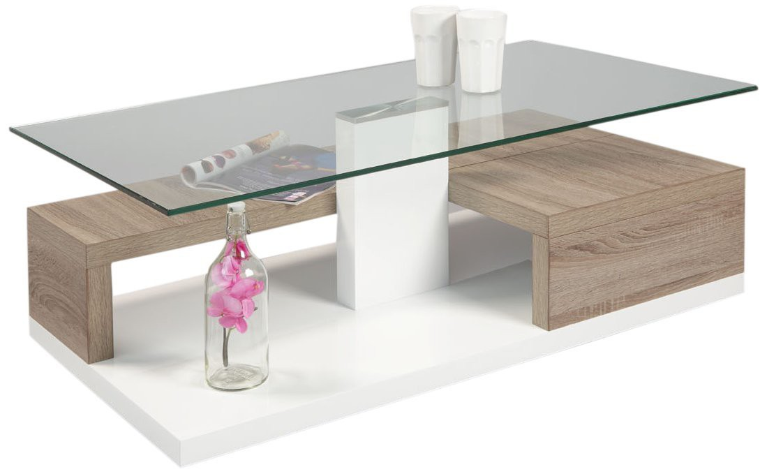Table basse grise design pas cher