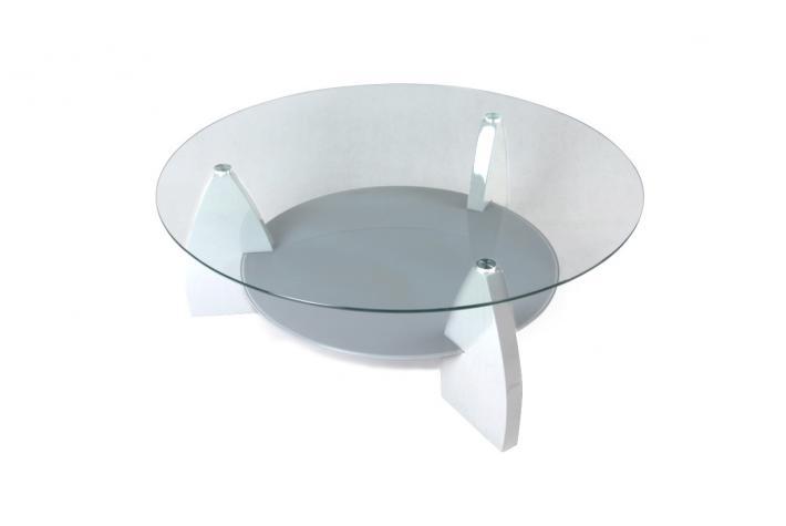 Table basse ronde verre pas cher