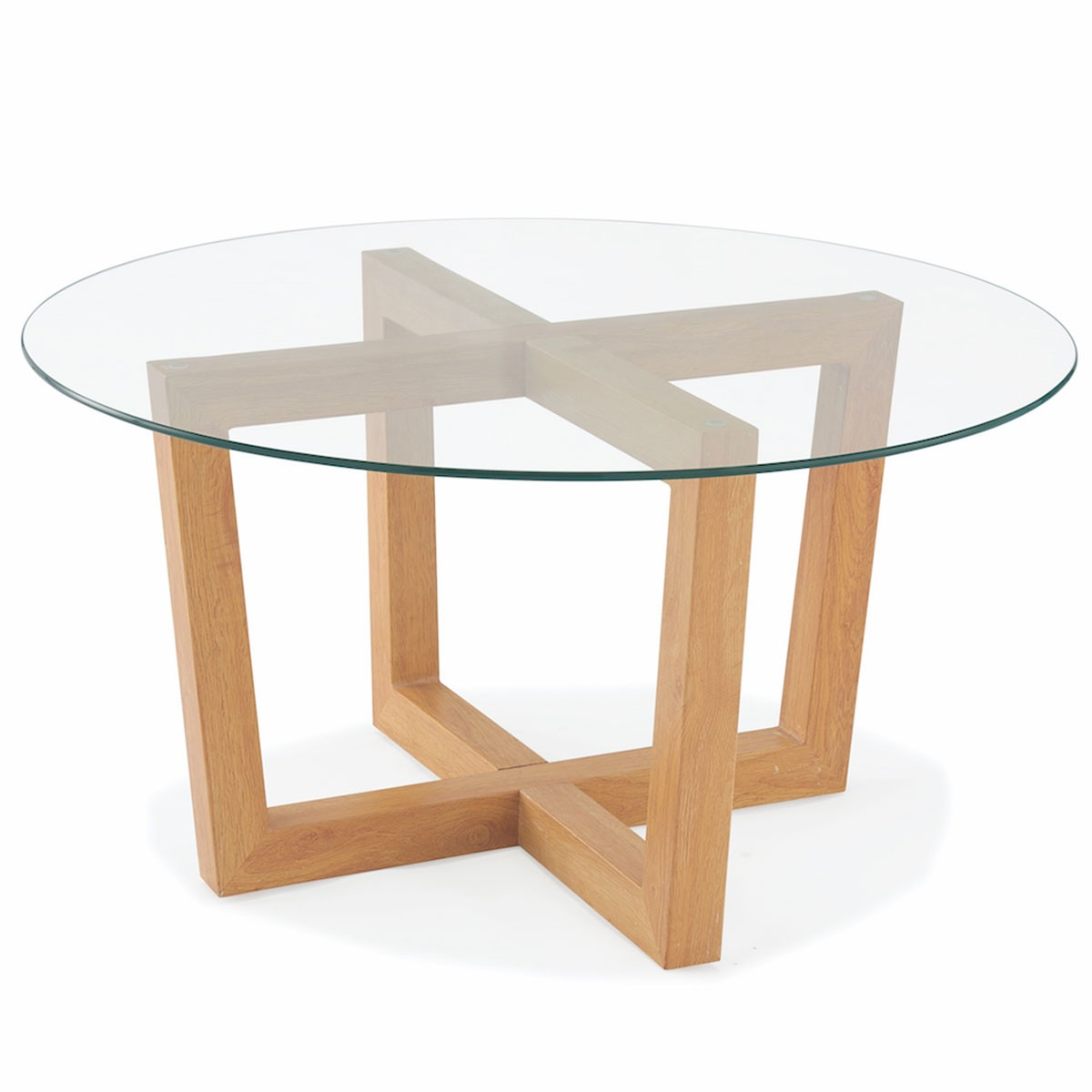 Table basse ronde pied bois