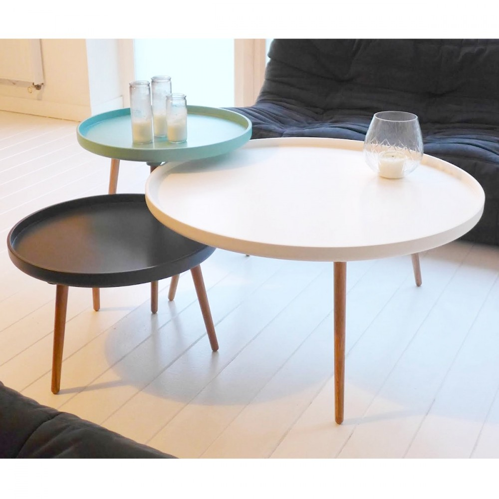 Table basse ronde haute