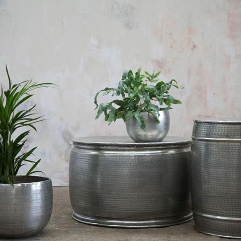 Table basse ronde en aluminium