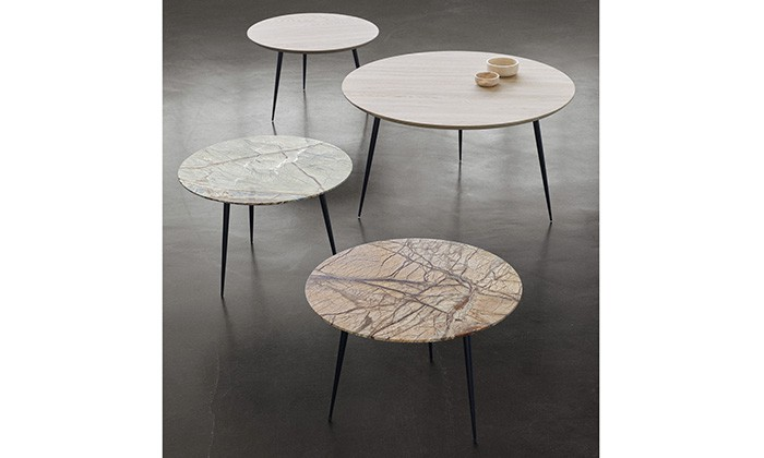 Table basse ronde plateau marbre