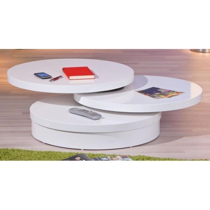 Table basse ronde plateau