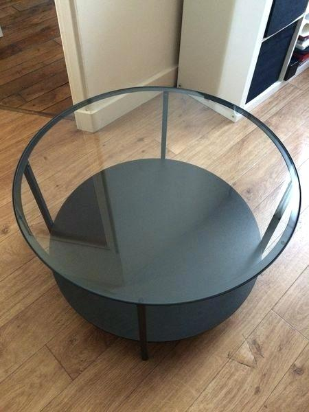 Table basse ronde verre ikea