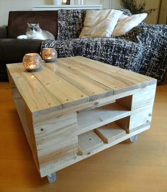 Table basse rustique pas cher