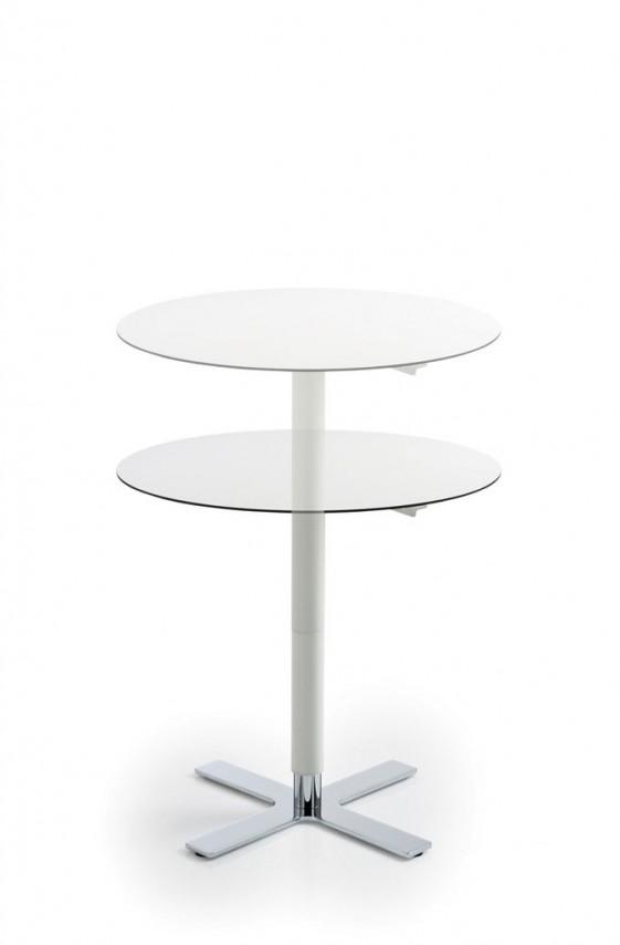 Table basse ronde reglable en hauteur
