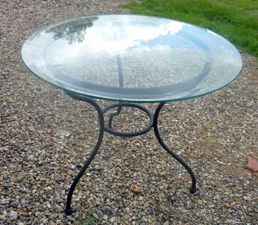 Awesome Table De Jardin Ronde En Verre Photos - House Design ...