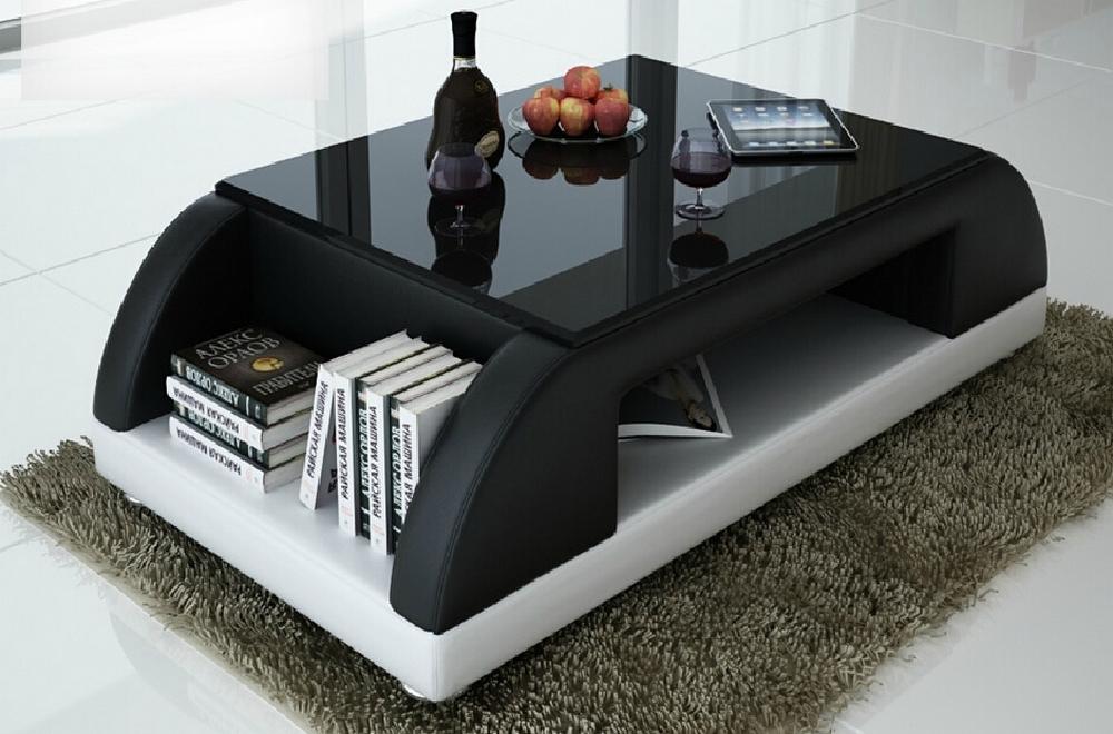 Table basse design pas cher noir