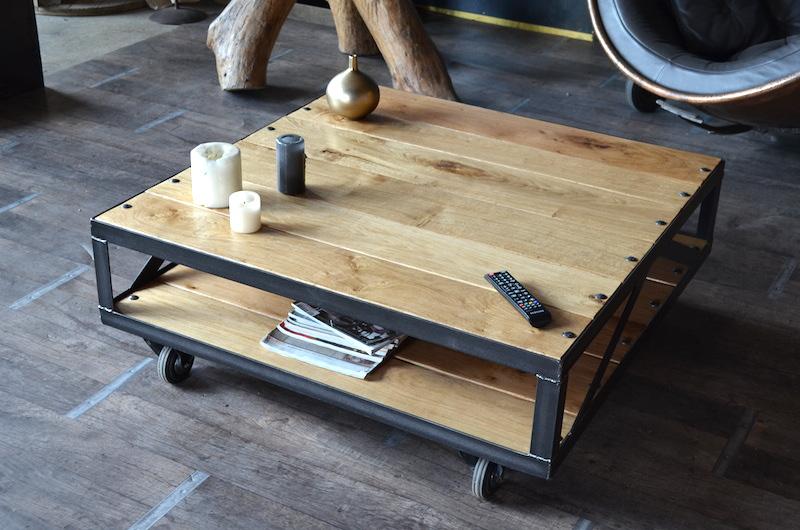 Idée Déco Industrielle Maison Une Et Creer De Table Basse Rqj34AL5