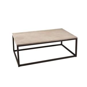 Table basse vintage en bois et métal l 115 cm - twist