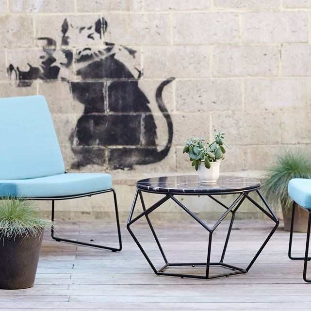 Table basse de jardin en marbre