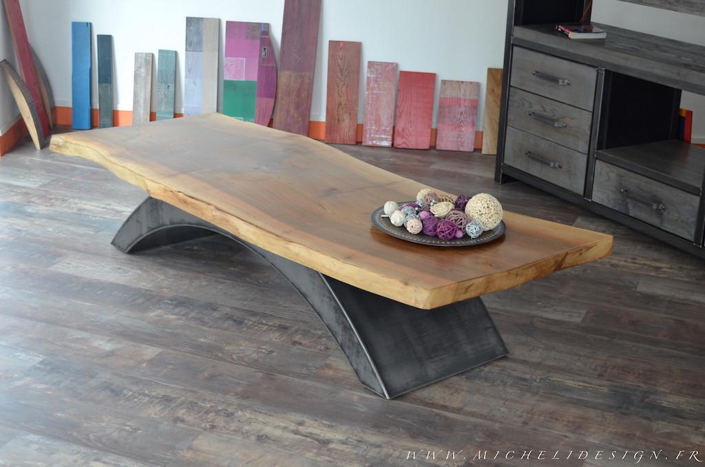 Table basse style industriel design - Idée de maison et déco