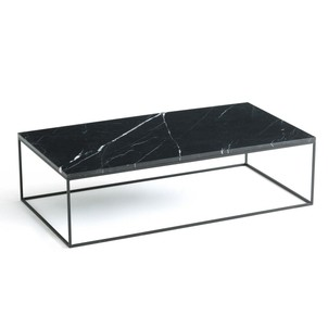 Table basse plateau marbre noir