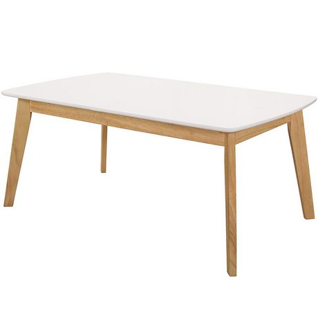 Table basse retro blanche
