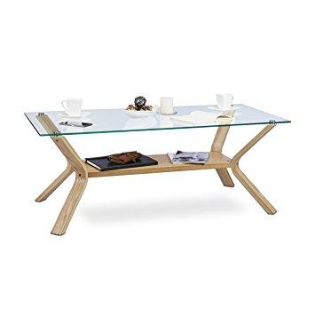 Table basse en verre hauteur 45 cm