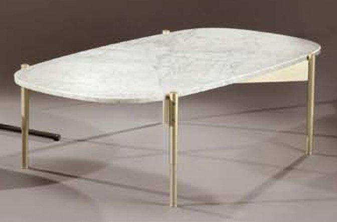Table basse marbre ovale