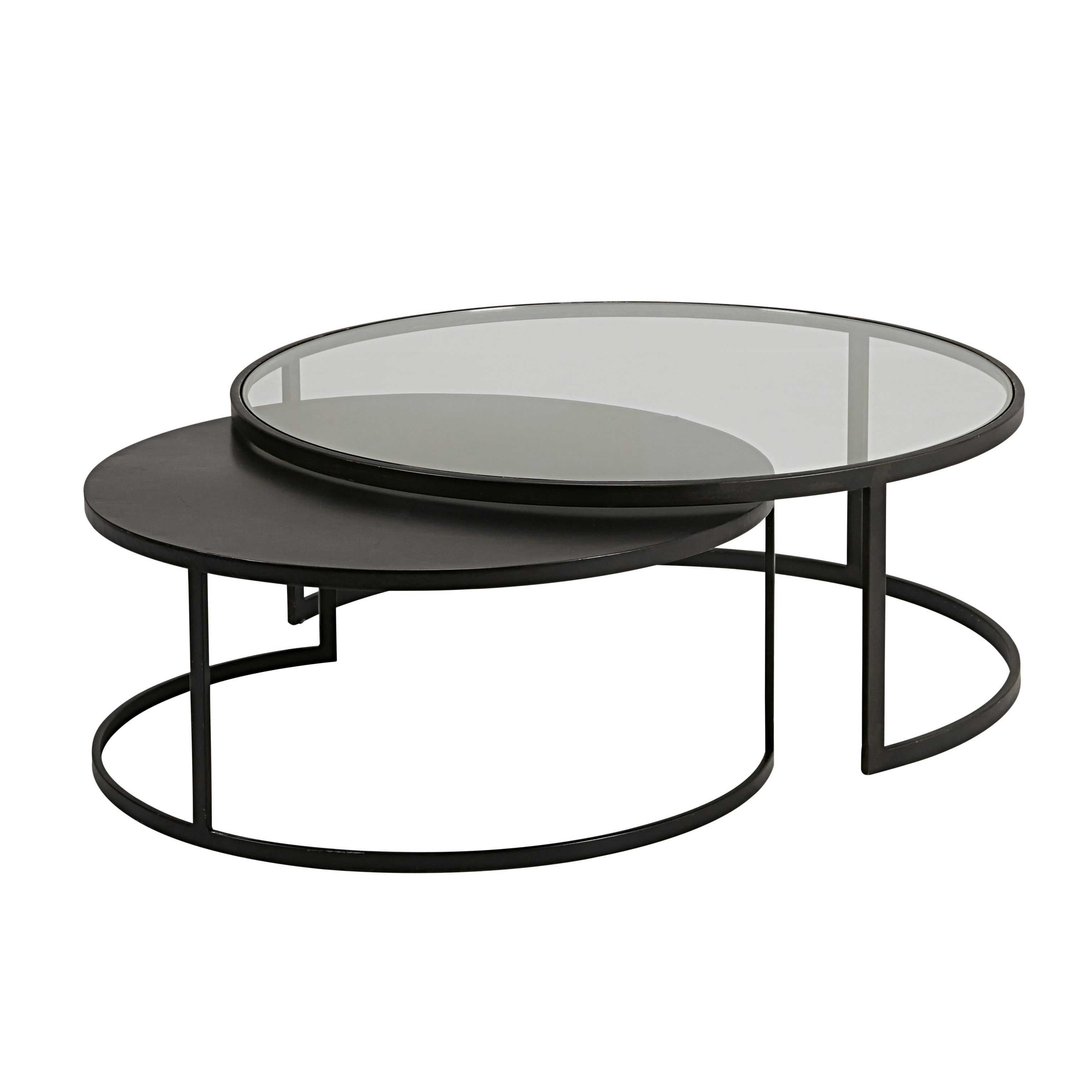 Glass table basse en verre noir