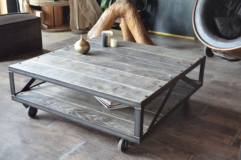 Table basse industrielle sur mesure