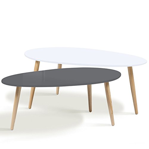 Table basse gigogne laquee