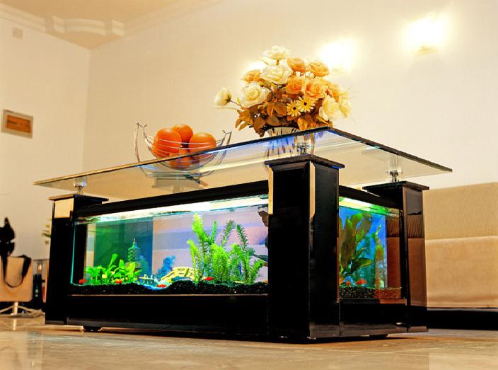 Aquarium table basse de salon
