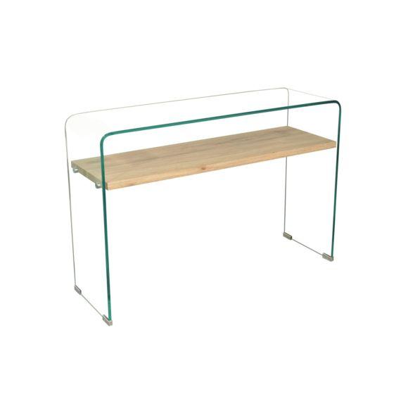 Table basse bois et verre alinea