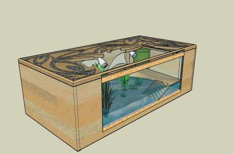 Table basse aquarium tuto