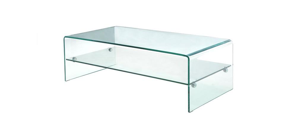 Vera table basse en verre courbé
