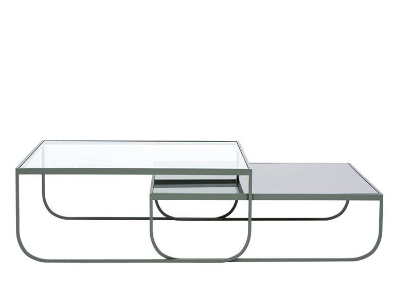 Table basse en verre tati