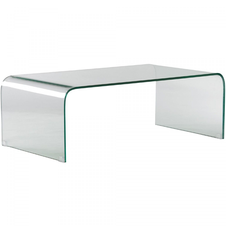 Table basse en verre solde