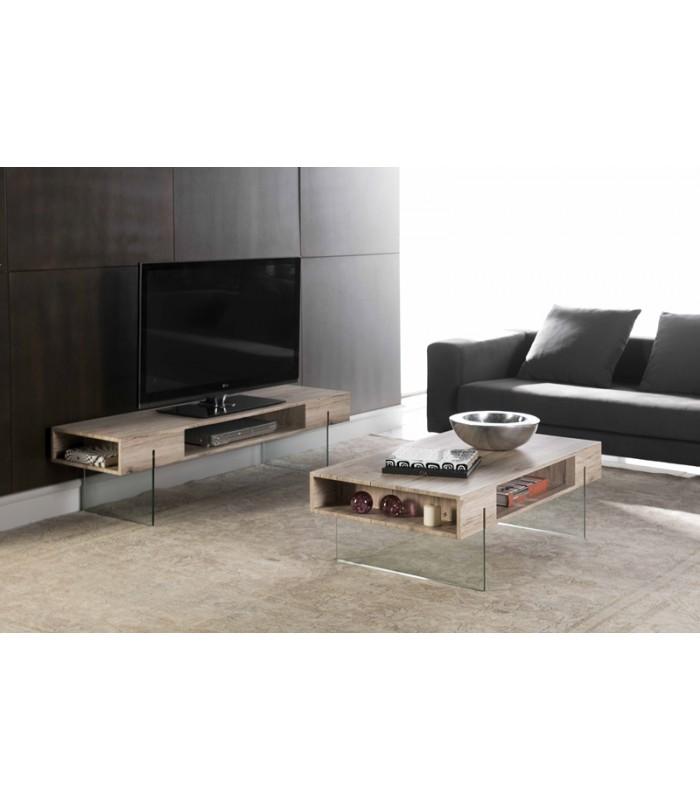 Table basse en verre tv