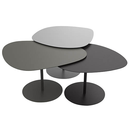 Table basse gigogne matiere grise