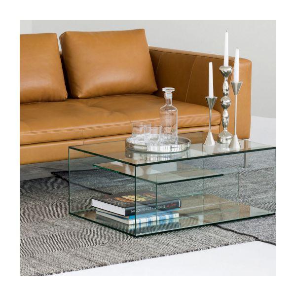 Table basse en verre habitat
