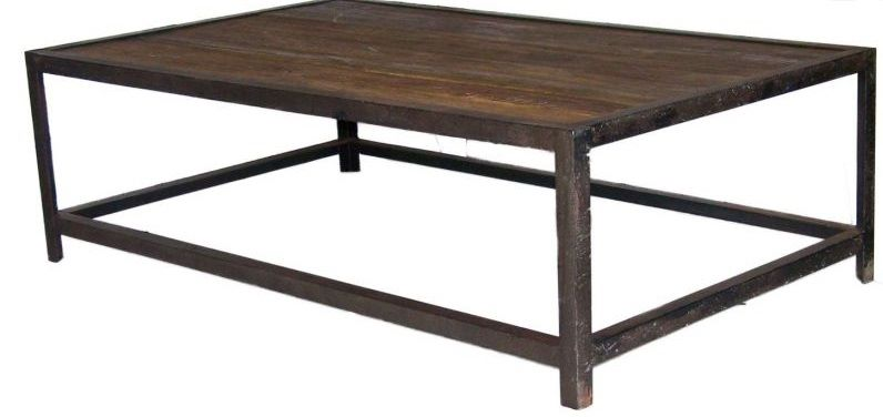 Table basse look industriel