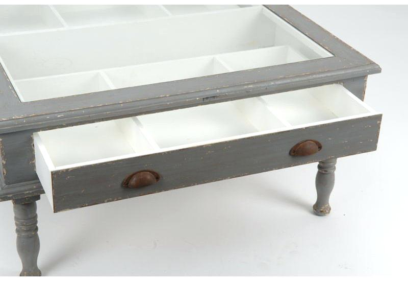 Table basse vitrine redoute