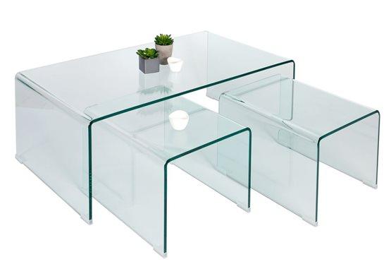 Table basse gigogne verre design