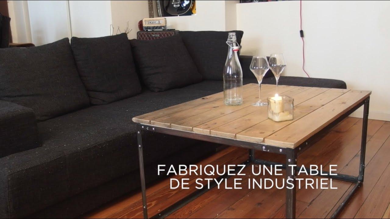 Fabriquer une table basse industrielle
