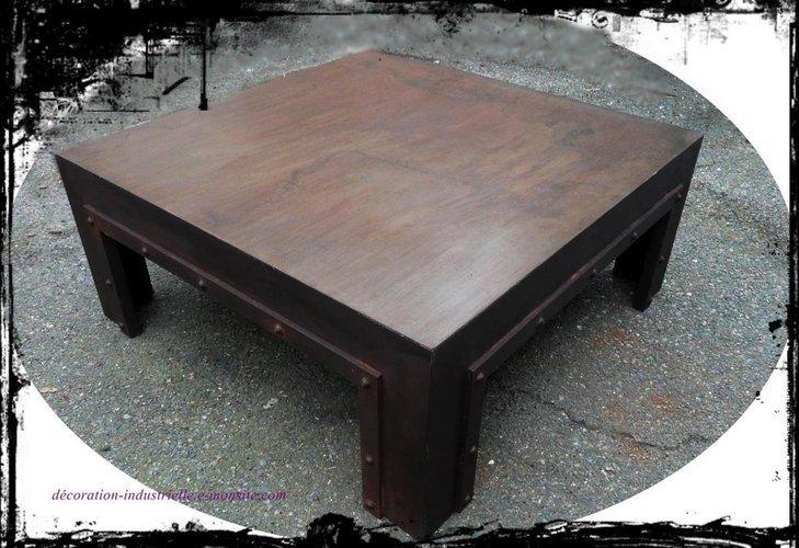 Table basse métal industriel loft