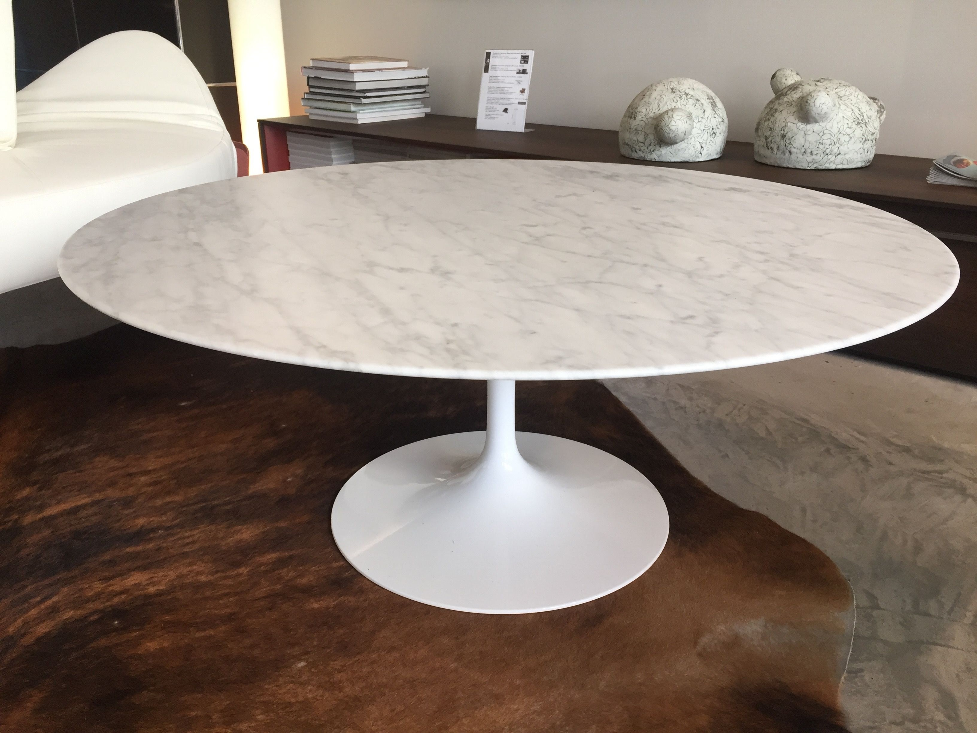 Table basse marbre blanc knoll
