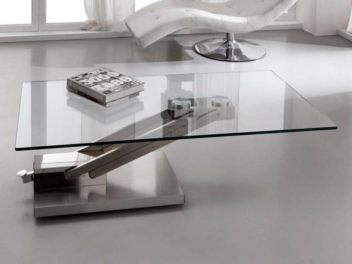 Table Basse En Verre Transformable Idee De Maison Et Deco