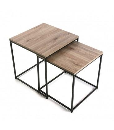 Table basse gigogne chene