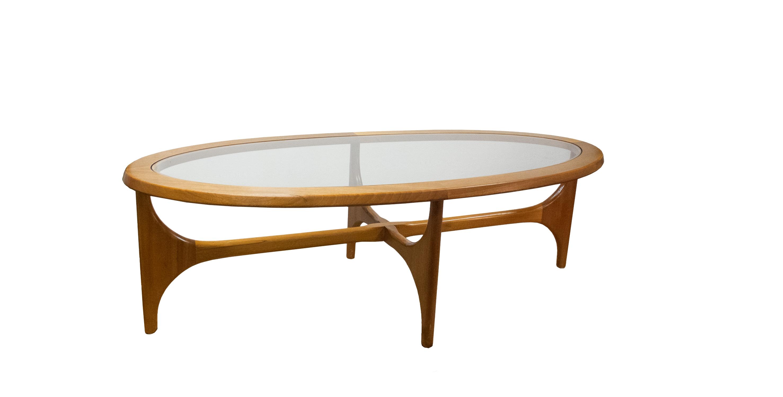 Table basse vintage ovale