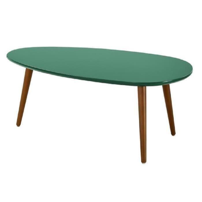 Table basse vintage vert anis