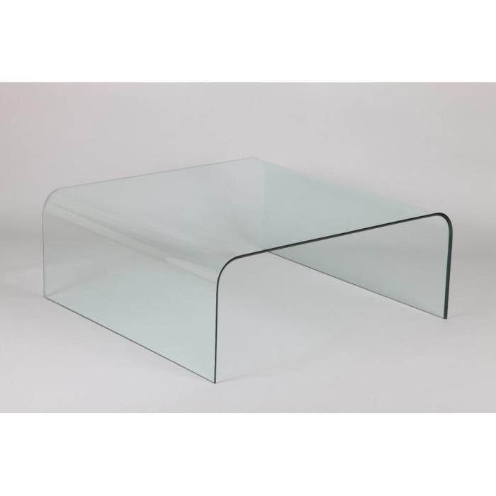 Table basse carrée effet beton
