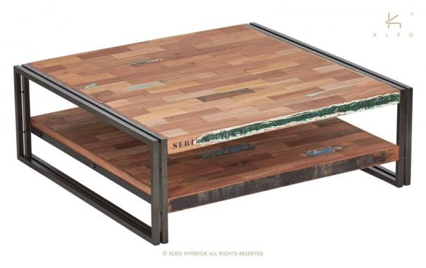 Table basse carrée industrielle