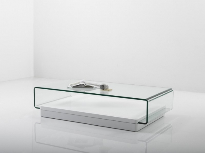 Table basse en verre wenge