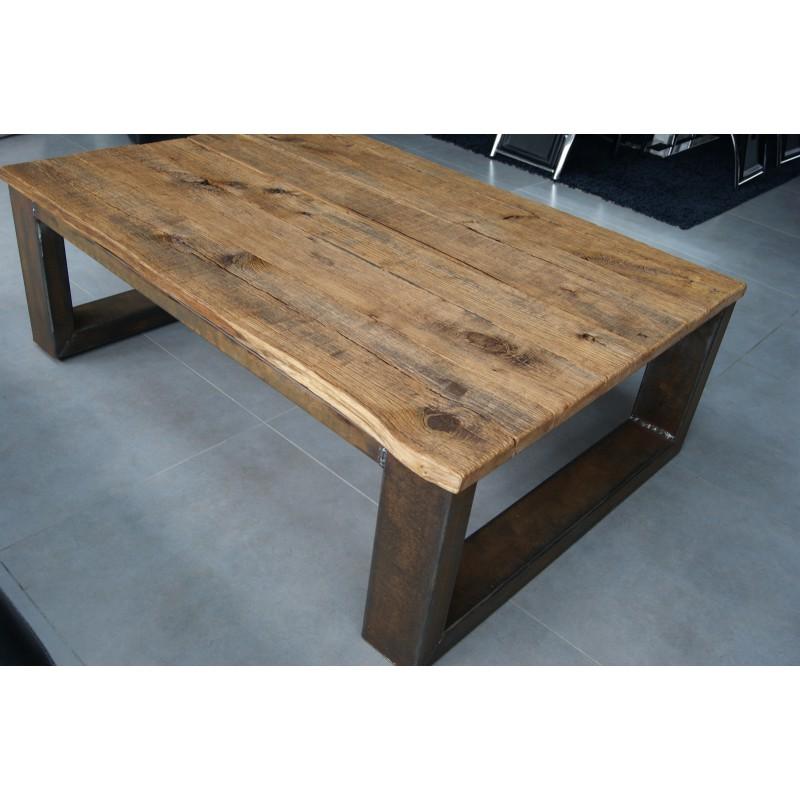 Table basse vintage acier