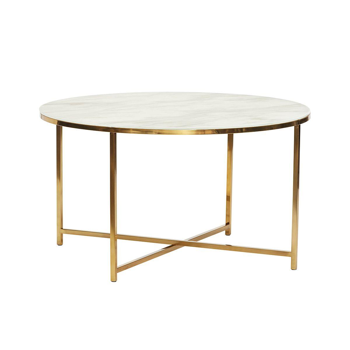 Table basse facon marbre