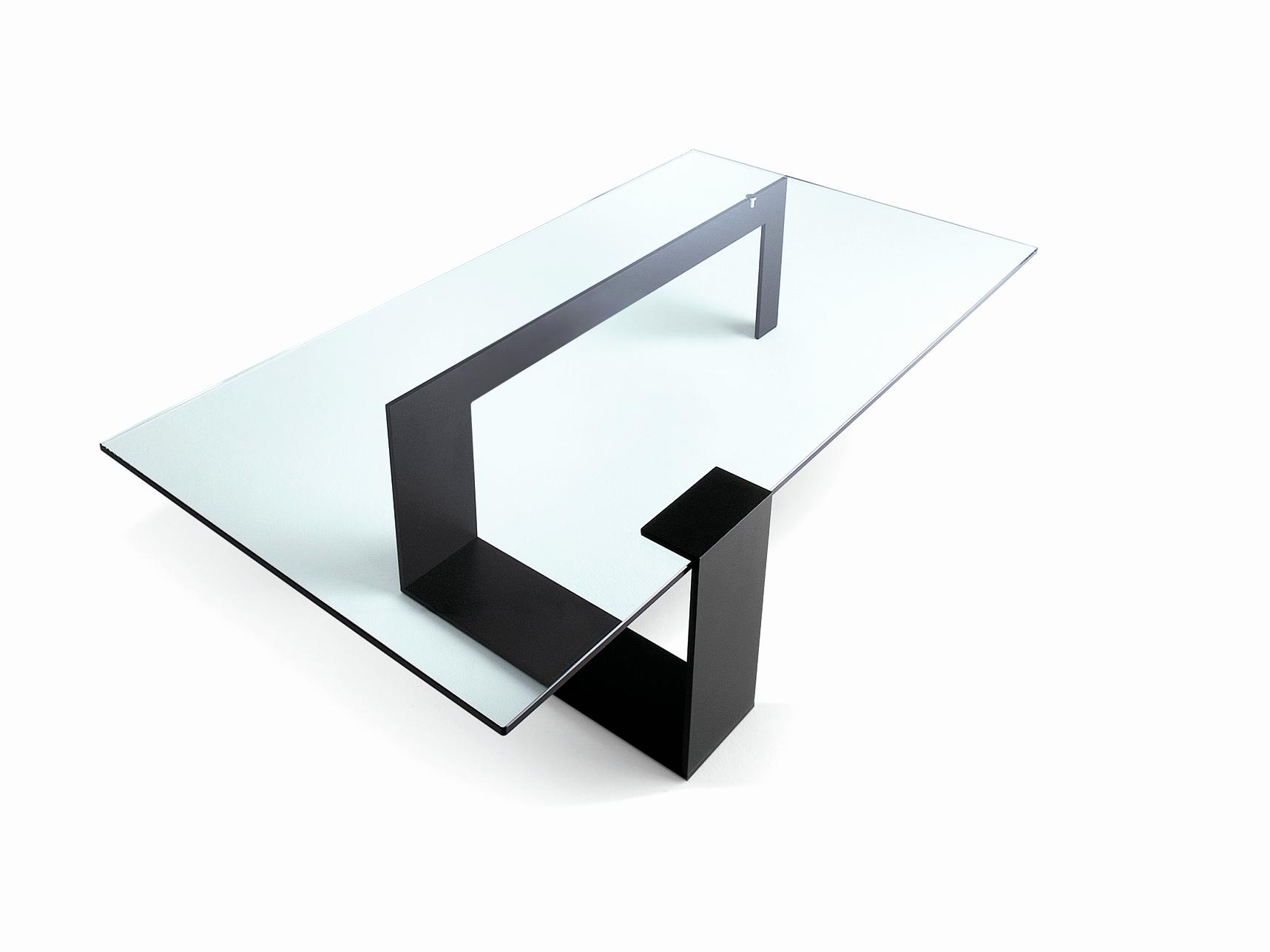 Table basse en verre italienne